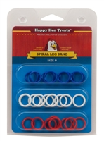 HAPPY HEN POULTRY LEG BANDS SIZE 9, 24 PACK, ASSORTED COLORS
