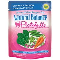 NATURAL BALANCE PLATEFULLS CHICKEN & SALMON CAT FOOD POUCH 3OZ
