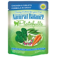 NATURAL BALANCE PLATEFULLS CHICKEN & GIBLETS CAT FOOD POUCH 3OZ