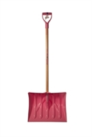 "Mt Waldo 18"" Snow Shovel/Pusher D-grip, Fiberglass Shaft, Pink"