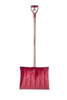 "Mt Waldo 18"" Snow Shovel/Pusher D-grip,Ash Shaft, Pink"