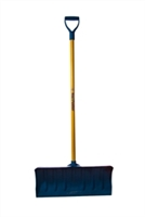 "Mt Waldo 24"" Snow Shovel/Pusher D-grip, Fiberglass Shaft, Blue"