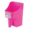 Little Giant 153850 Enclosed Feed Scoop, 3 qt 6 in W X 6-1/4 in L X 9-1/4 in H, Pink