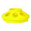 Miller 806 Heavy Duty Baby Chick Feeder, 1 qt Capacity 6.325 in W x 6-3/8 in L x 2-1/2 in H, Yellow