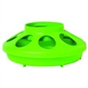 Miller 806 Heavy Duty Baby Chick Feeder, 1 qt Capacity 6.325 in W x 6-3/8 in L x 2-1/2 in H, APPLE GREEN