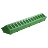 Miller 820 High Density Poultry Feeder 4-1/2 in W X 20 in L X 3 in H, Polypropylene, Lime Green