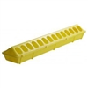Miller 820 High Density Poultry Feeder 4-1/2 in W X 20 in L X 3 in H, Polypropylene, Yellow
