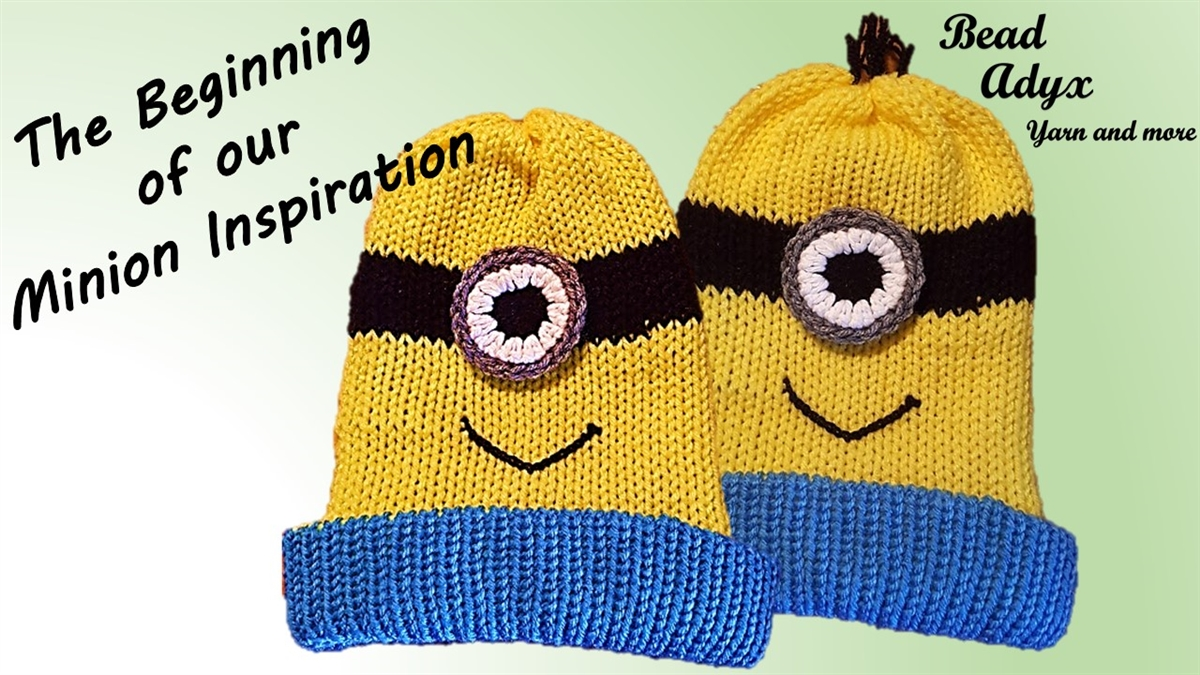 Minion Inspired Hat PATTERN on the Addi King Knitting Machine