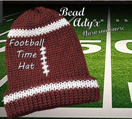 Football Time Hat Pattern On The Addi King Knitting Machine