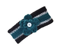 Eagles Football Ear Warmers with Flower