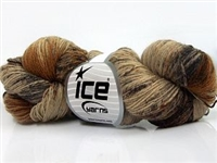 7106 Hand Dyed Sock Yarn  -  Orange Brown Shades