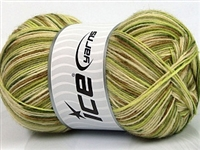 7204 Design Sock Yarn  -   Green Shades