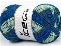 7205 Design Sock Yarn  -   Blue Shades