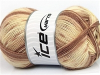 7208 Design Sock Yarn  -   Cream Brown