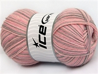 7303 Magic Sock Yarn  -    Pink Shades Light Camel