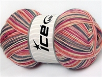 7304 Magic Sock Yarn  -     Salmon Pink Shades Grey