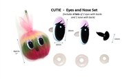 CUTIE  -  Eyes and Nose Set (4 Sets)