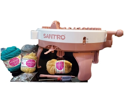 48 Needle SANTRO Knitting Machine. Used for making Scarves, Hats, Tubes and Flat Panels with a multitude of possibilities.