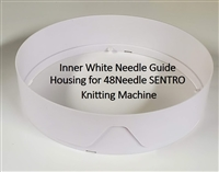 Inner Needle Guide Housing (White) - SENTRO 48 Needle Knitting Machine