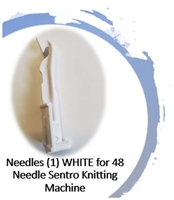 Needles (1) WHITE -  48 Needle SENTRO Knitting Machines