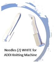 Needles (2) WHITE -  for ADDI Knitting Machines