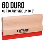 Custom Cut Wooden Squeegee - 60 Duro