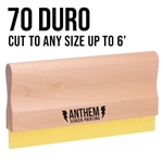 Custom Cut Wooden Squeegee - 70 Duro
