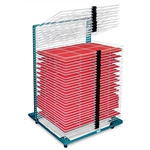 AWT Portable Poster Drying Rack - 50 Shelf