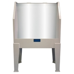 CCI E44PL Polypropylene Backlit Washout Booth
