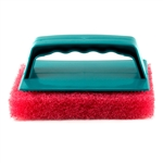 Scrub Brush With Pad - Red