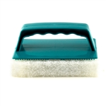 Scrub Brush With Pad - White