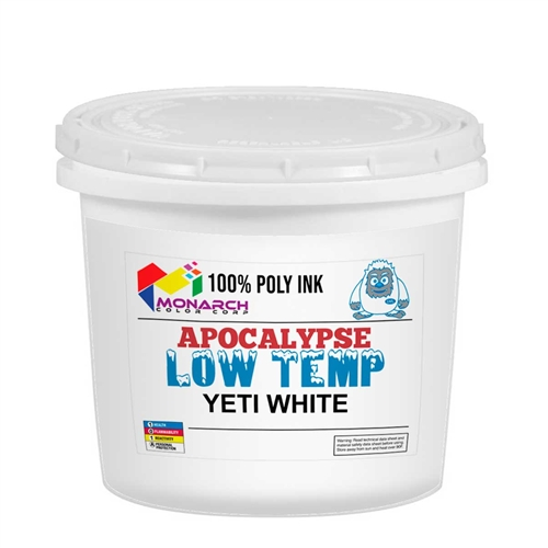 Monarch Low Temp Poly/Poly Blend Plastisol Ink - LB Yeti White