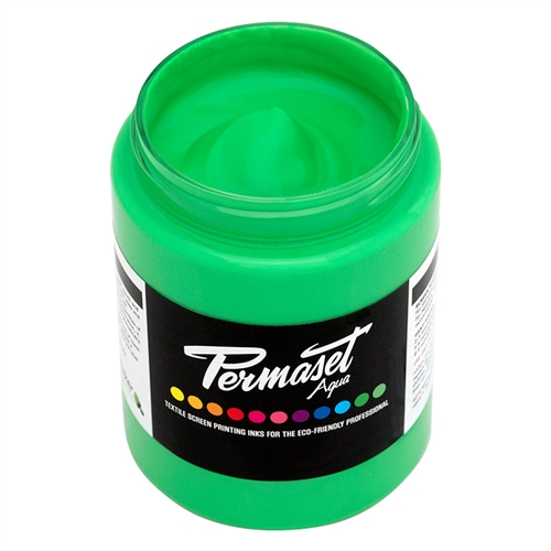Permaset Aqua Standard Ink - Glow Green - 300ml