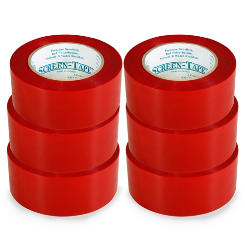 "Screen Printing Screen Tape - 2"" x 36 Yds - 6 Pack"