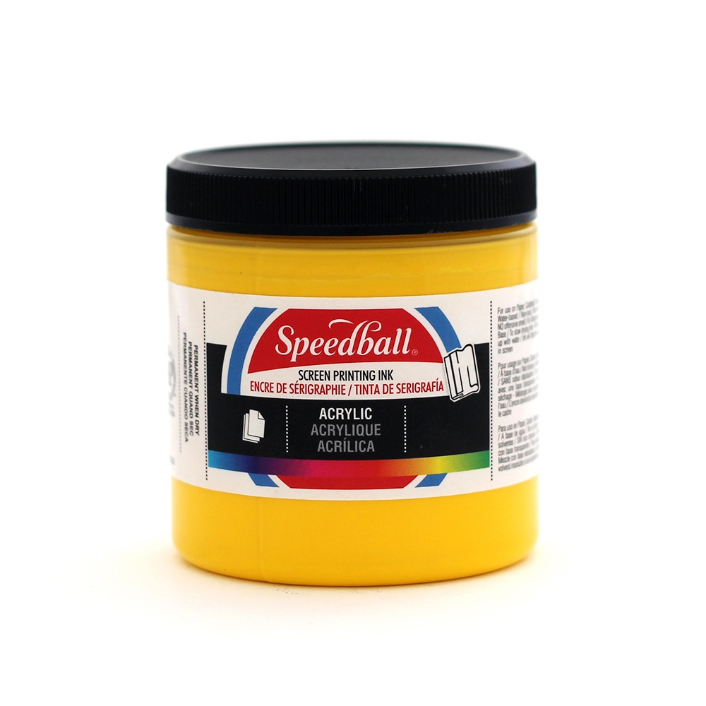 Speedball Acrylic Ink - Medium Yellow - 8 oz