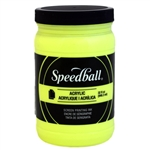 Speedball Acrylic Ink - Fluorescent Yellow - 32 oz.