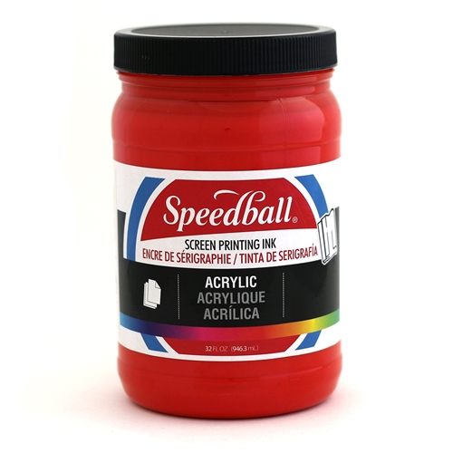 Speedball Acrylic Ink - Medium Red - 32 oz.