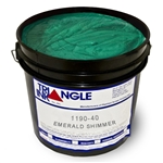 Triangle Screen Printing Ink - Emerald Green Shimmer
