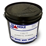 Triangle Screen Printing Ink - Gunmetal Black Shimmer
