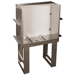 "Vastex Stainless Steel Washout Booth 36"" x 27"""