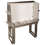 "Vastex Stainless Steel Washout Booth 51"" x 27"""