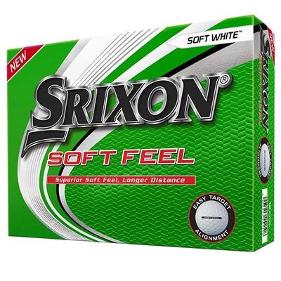 Srixon Soft Feel 12 Personalized White Golf Balls