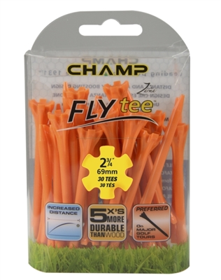 "Champ Zarma FLYtee 2 3/4"" Orange 30pk Tees"