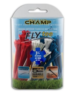 "Champ Zarma FLYtee 3 1/4"" Patriot 25pk Tees"