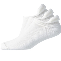 Footjoy ComfortSof Roll-Top White 3pk