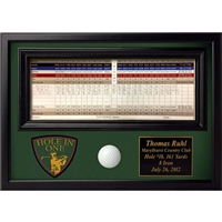 Hole In One Ball and Scorecard Display