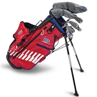 "U.S. Kids Ultralight 48""-s 7-Club DV3 Stand Bag Set"