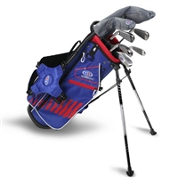 "U.S. Kids Ultralight 51""-s 7-Club DV3 Stand Bag Set"