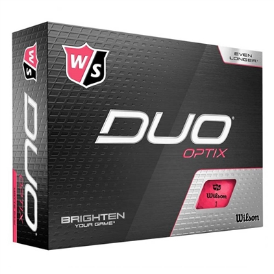 Wilson Duo Optix Pink Golf Balls