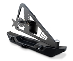 JK RockBrawler II Rear Bumper - Tire Carrier - Black
